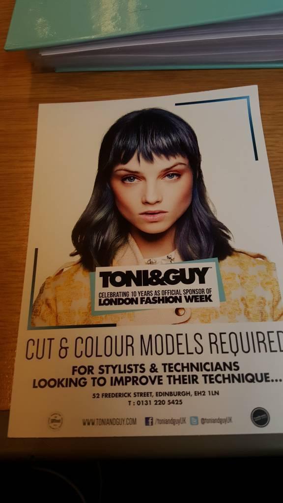 Models Required Toni Guy In Edinburgh City Centre Edinburgh