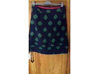 White Stuff Blue/Green Print Skirt 12