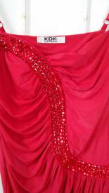 KDK London Bodycon Red Dress Size M/L