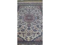 Persian Handmade Rug - Cream Black and Pink