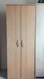 2 door beech wardrobe in excellent condition. Dismantled ready for collection.