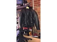 Ladies leather motorbike jackets