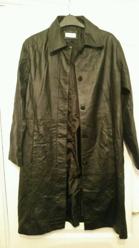 Real leather 3/4 lenth jacket