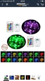 Multicolor RGB] LED String Lights with Remote Control,UNIFUN 16.4ft 50 LEDs Battery