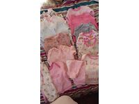 0-3months girls sleepsuits