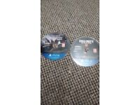 Call of duty Modern warfare and call of duty black ops 4 discs