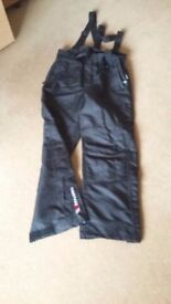 Two pairs Ski Salopetts Medium size