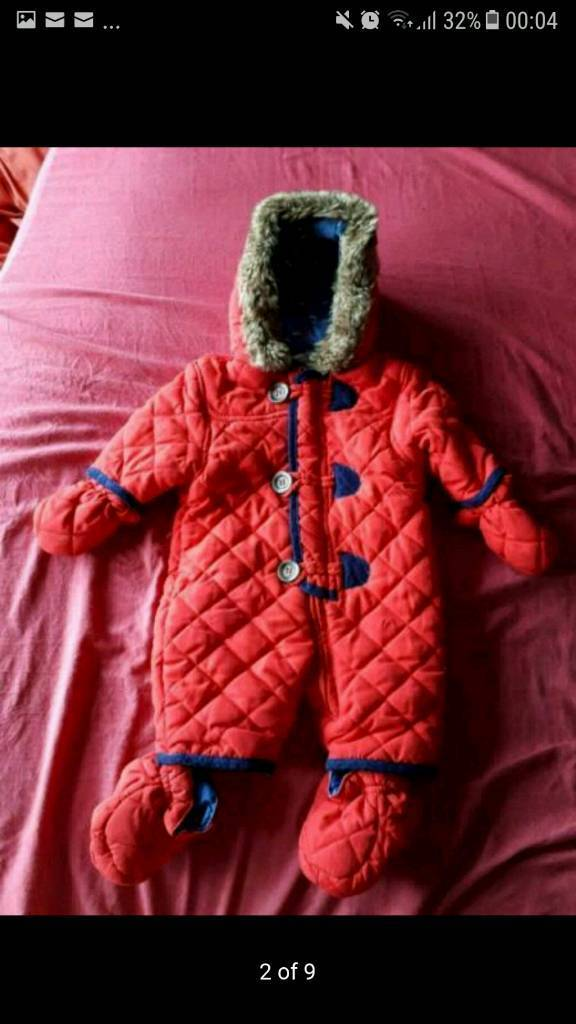 Baby winter suit from new born + a free musical toys & a baby bath