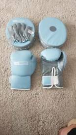 Boxing glove and pad set