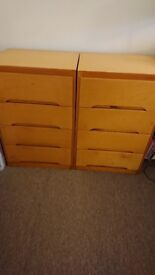 2 x small chests of drawers
