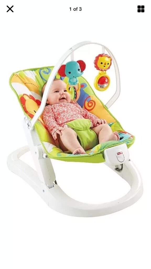 Fisher price rainforest friends fun and fold bouncer