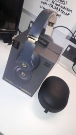Beats studio 3 wireless noise cancelling headphones, special edition black and Gold