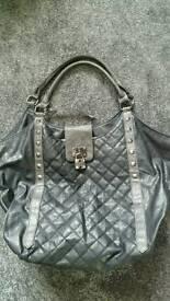Large black and grey bag