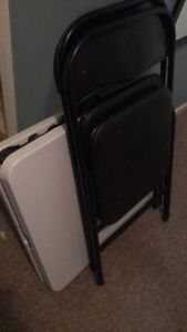 Outside Foldable Table and 2x Chairs