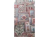 Carpet red pattern vintage retro 10x11feet