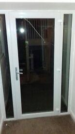 DOOR WITH DOUBLE GLAZING