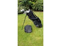Set of ladies golf clubs with stand bag