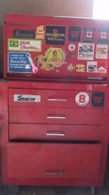 Genuine Snap On ex F1 mechanics tool box, including some sockets and spanners