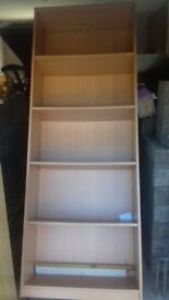 3 large good quality bookcases