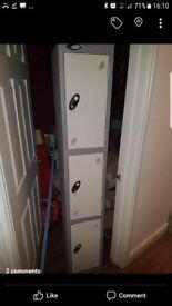 Strip of lockers
