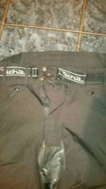 Richa textile and leather motorcycle jeans
