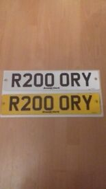 RORY car number plate 18 yr present