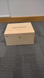 Voting box with key