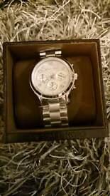Michael Kors Ladies Silver Watch