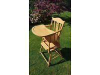 Traditional 3 in 1 High Chair