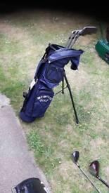 Golf bag and irons