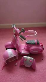Baby born scooter, helmet and remote