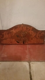 Teddy toy co Wooden sign
