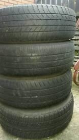 5x100 steel wheels all new tyres