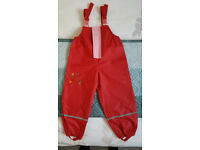 New Waterproof trousers size 3-4 years