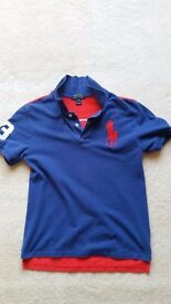Ralph Lauren Blue & Red Polo Shirt, Size 14-16, Brand new, Contact me soon as, Cheap price at £15
