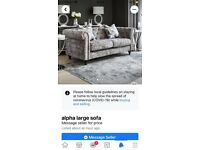 Next crushed velvet sofa