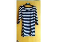 Striped tunic black and gray, 3/4 sleeve