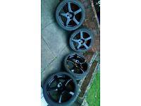 17 inch 4x100 alloy wheels alloys