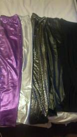 5 x Metallic leggings size medium/large