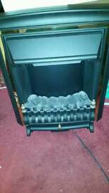 Coal flame effect electric fire