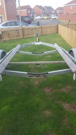 Boat trailer for sale 2nd hand bunked for aprox 21 foot boat with working brakes