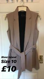 River Island Waist Jacket size 10