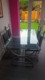 Bespoke dining table and 4 chairs