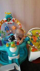 Baby Einstein lights and sea activity saucer and gym
