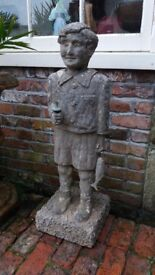 1930's reconstituted fountain FISHER BOY