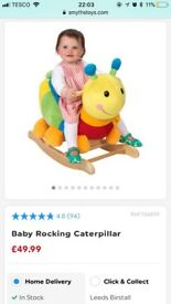 Ride on rockin catterpillar