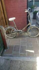 Ladies bike 3 speed 1972 good working order excellent fold up