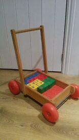 alphabet and number block trolly