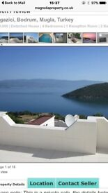 Lovely 4 bed Villa with private pool and panoramic views for sale. Only 15 mins from Bodrum Airport.