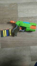 Nerf gun with bullets